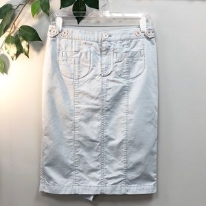 MARC JACOBS | Light Blue Denim Pencil Skirt